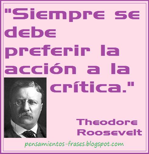 frases de Theodore Roosevelt