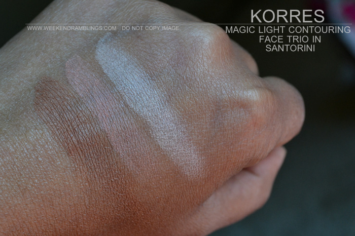Korres Goddess Beauty Color Collection Makeup Indian Beauty Blog Darker Skin Swatches Review FOTD