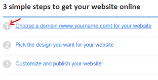 Choose free domain website - Free web hosting by google