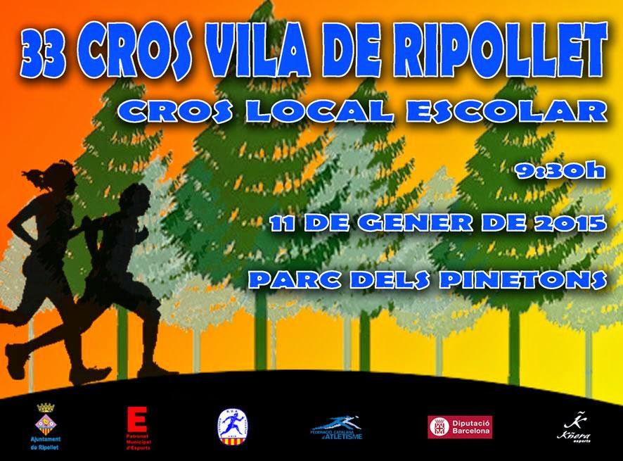 Cartel del 33è Cros Vila de Ripollet. [Imagen: PAME Ripollet]