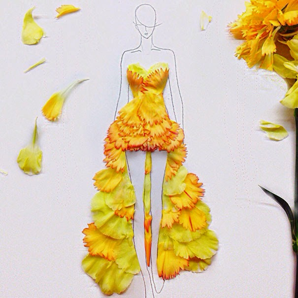 Grace ciao fashion illustrations flower petals