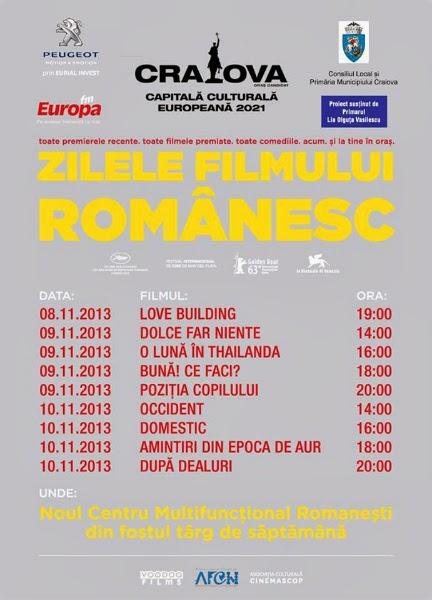 Zilele Filmului Romanesc la Craiova