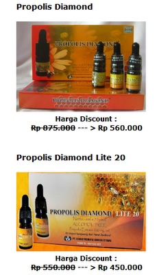 Propolis Diamond dan Propolis Diamond Lite 20
