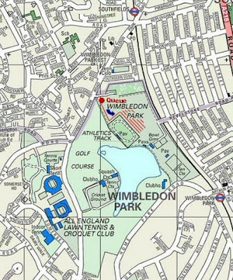 Map of Wimbledon Route