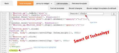 How to Search for Specific Code in Edit HTML New ( Template ) Blogger