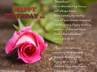 Happy birthday wishes for lover - girlfriend
