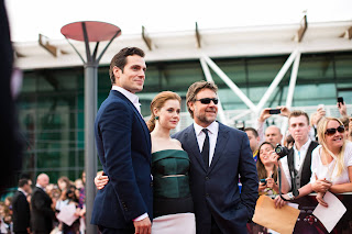 Man of Steel Jersey premiere Henry Cavill, Amy Adams & Russell Crowe