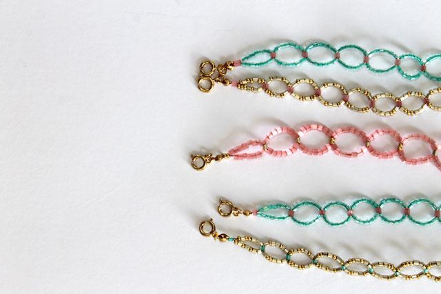 diy seed bead circle bracelet lotts and lots diy and