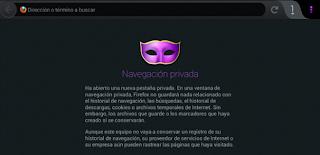 Navegar de forma privada con Firefox