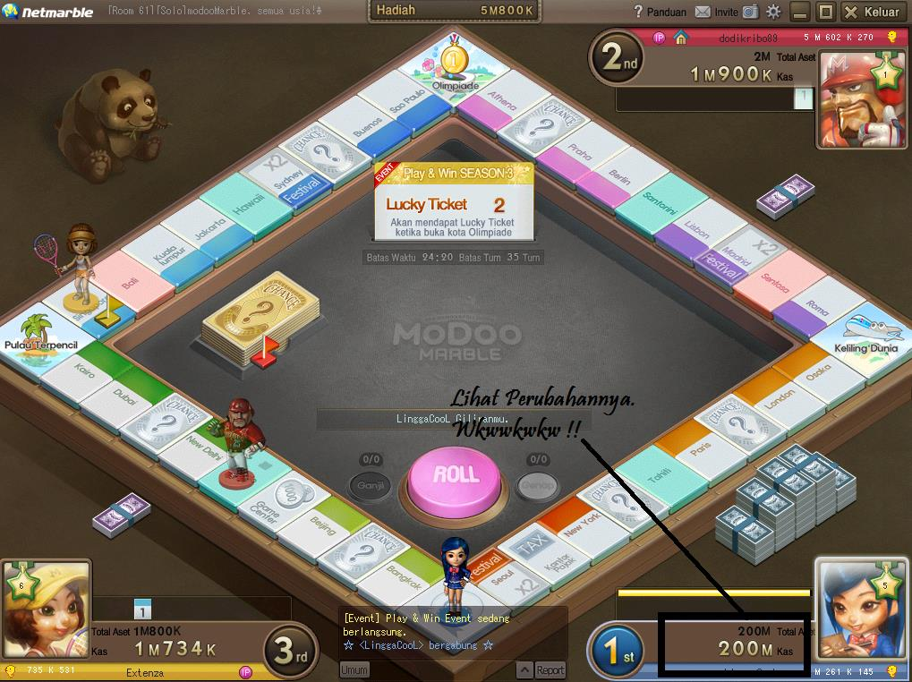 Tutorial] Cheat Modoo Marble Uang 2013