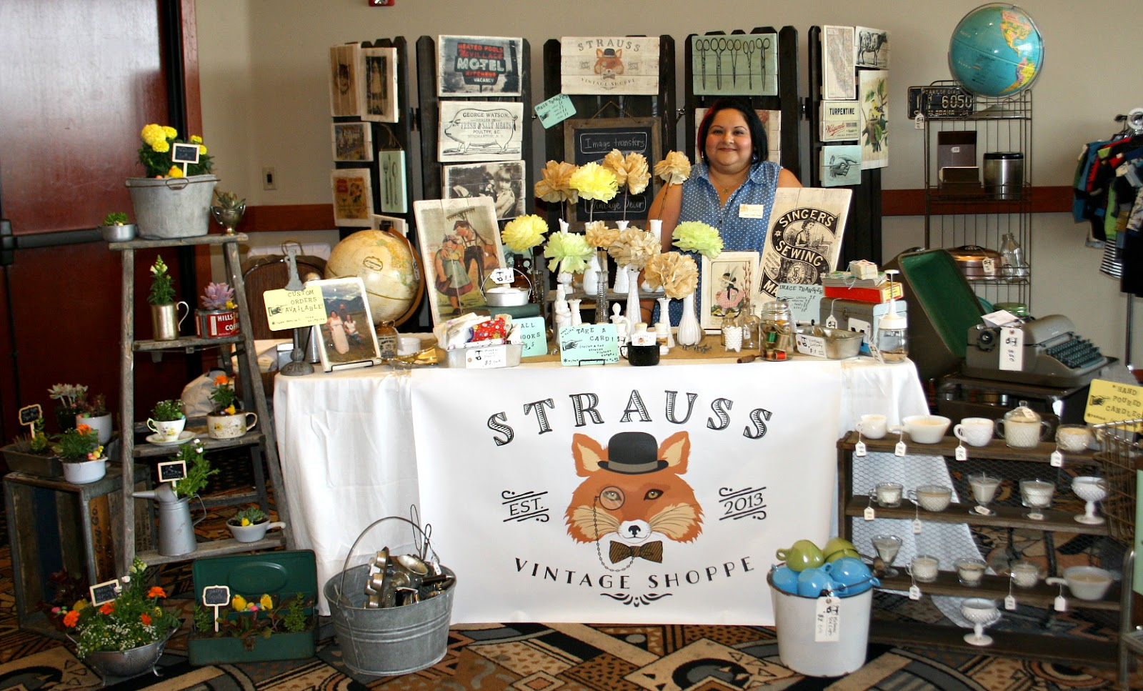 Strauss Vintage Shoppe feature & GIVEAWAY on Shop Small Saturday Showcase at Diane's Vintage Zest!