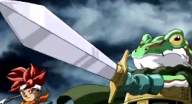 In an epic cut scene, Frog uses the Masamune to split a mountain open in 600 AD