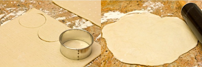 rolling dough for tandoori pastry