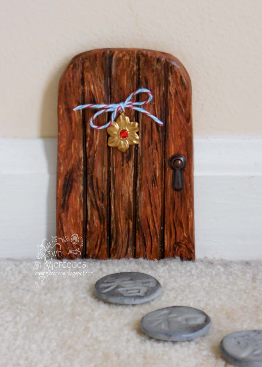 Creative paperclay air dry modeling material fairy door How to make a fairy door out of clay