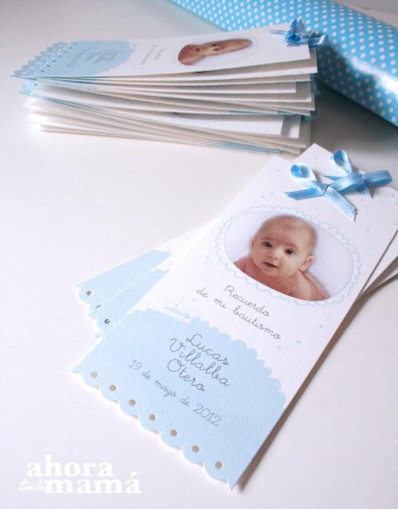 Las tarjetas del bautizo de Lucas | Ahora, también mamá