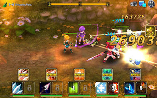 Screenshots of the Grand chase M for Android tablet, phone.