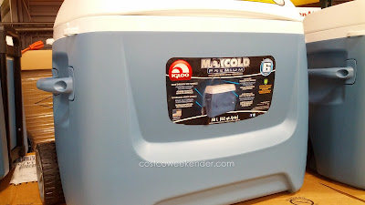 Be prepared for your next backyard barbecue with the Igloo Maxcold Rolling Cooler