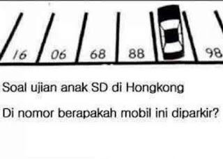 Gambar Teka Teki Lucu Tebakan Jumlah Mobil Parkir