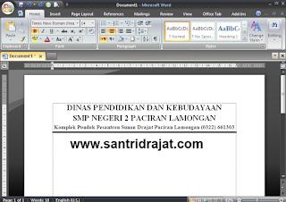 kop surat office santridrajat.com