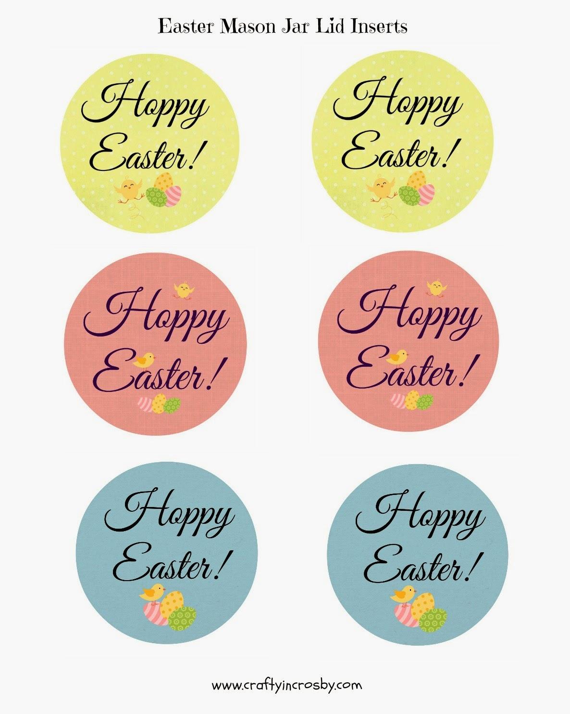 mason jar lid,  inserts, Easter Mason Jars, Hoppy Easter, Easter DIY