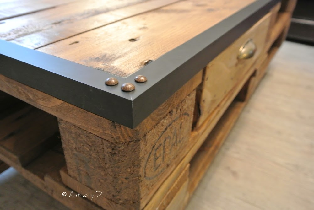 Table basse bar en palette - Fabriquer une table basse en palette ...