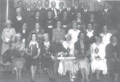 Jugadoras y organizadores del I Campeonato Femenino de Ajedrez, Madrid 1934