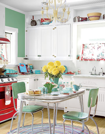 Vintage kitchen curtains kitchen ideas for 50s kitchen ideas