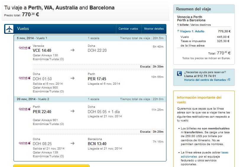vuelo barato Perth
