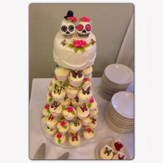 Bröllopscupcakes och Sugarskulls
