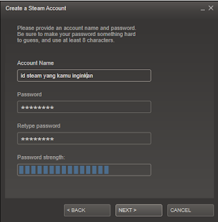 Tutorial membuat id Steam 2