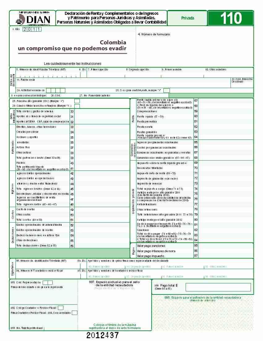 Formato Y Especificaciones Para El Suministro De La  Rmacion Con