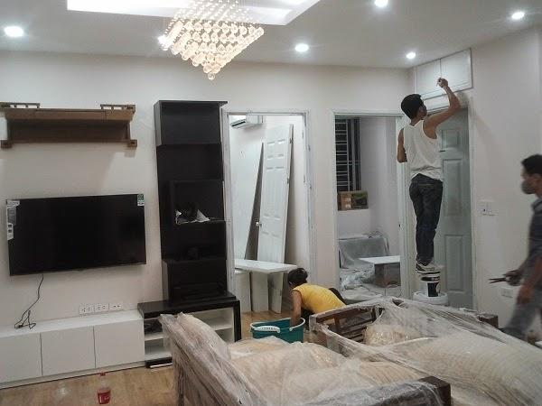 quá trình thi công chung cư vov