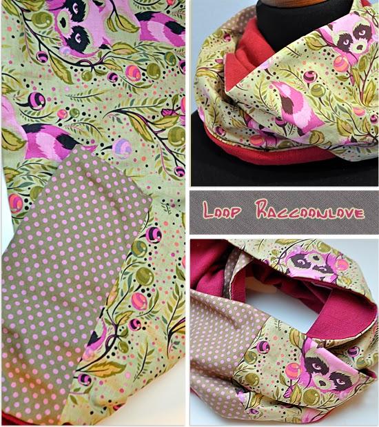 Loop Waschbär Tula Pink Raccoon
