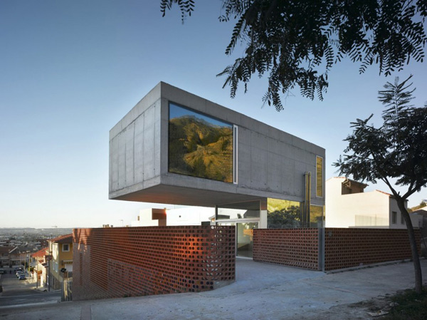 Concrete Cantilever House Eclectic Design With Mirrors Modern