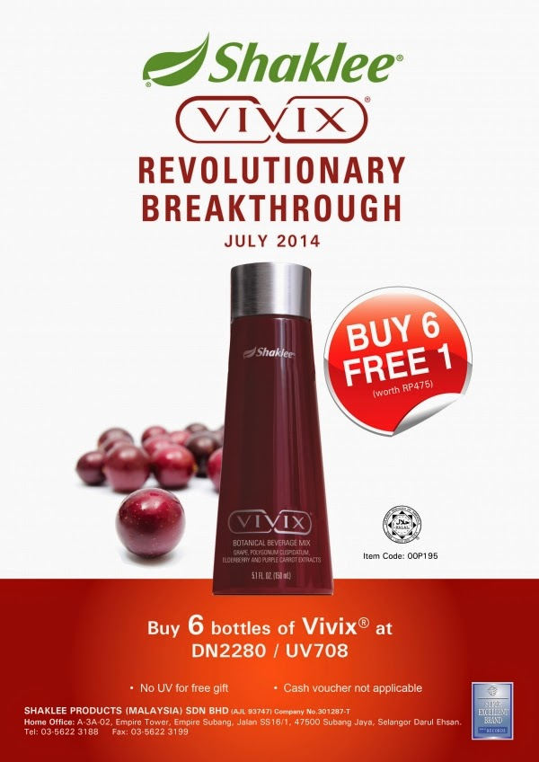 Shaklee promotion for july!
