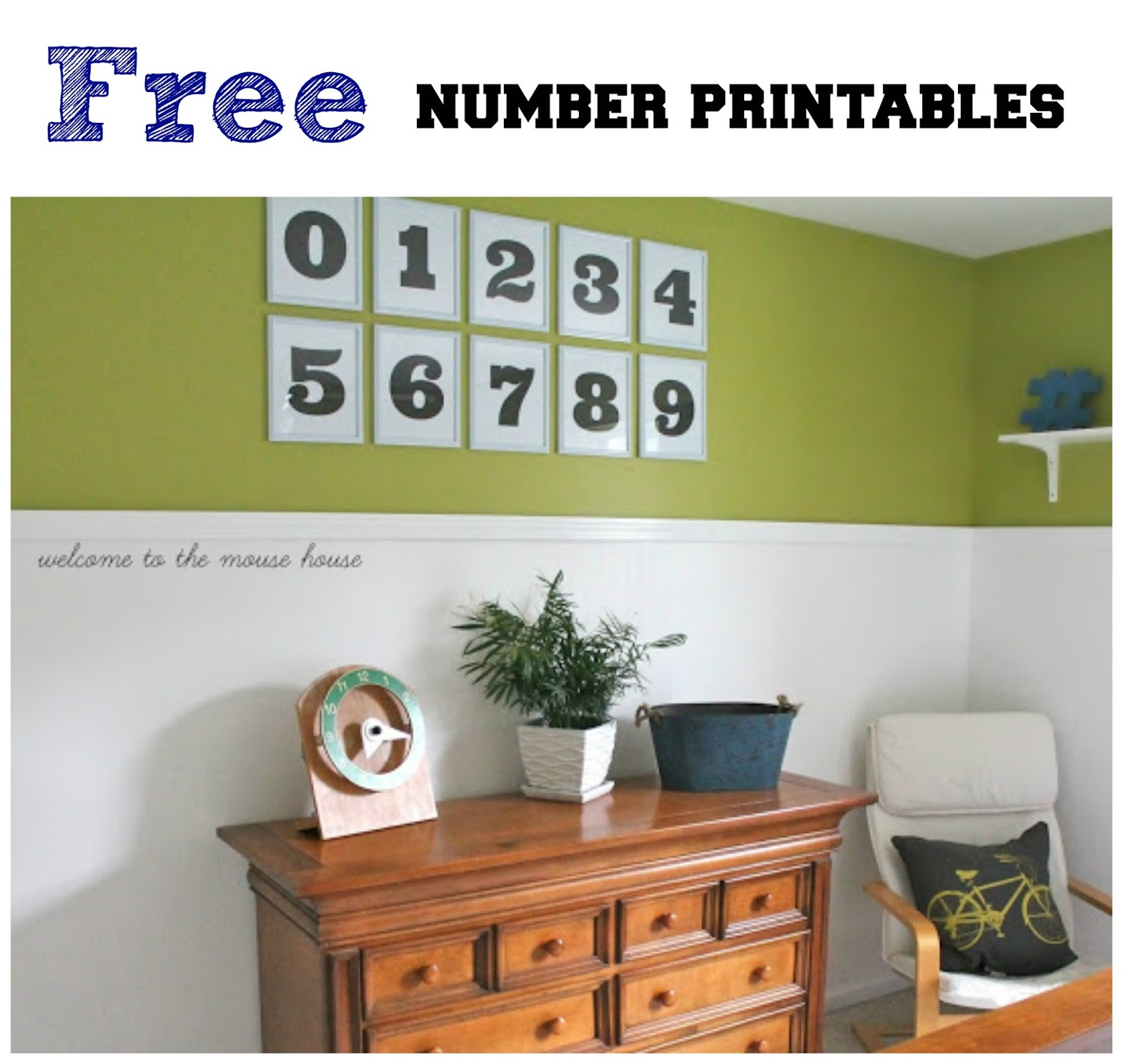 free number printables wall art welcometothemousehouse com