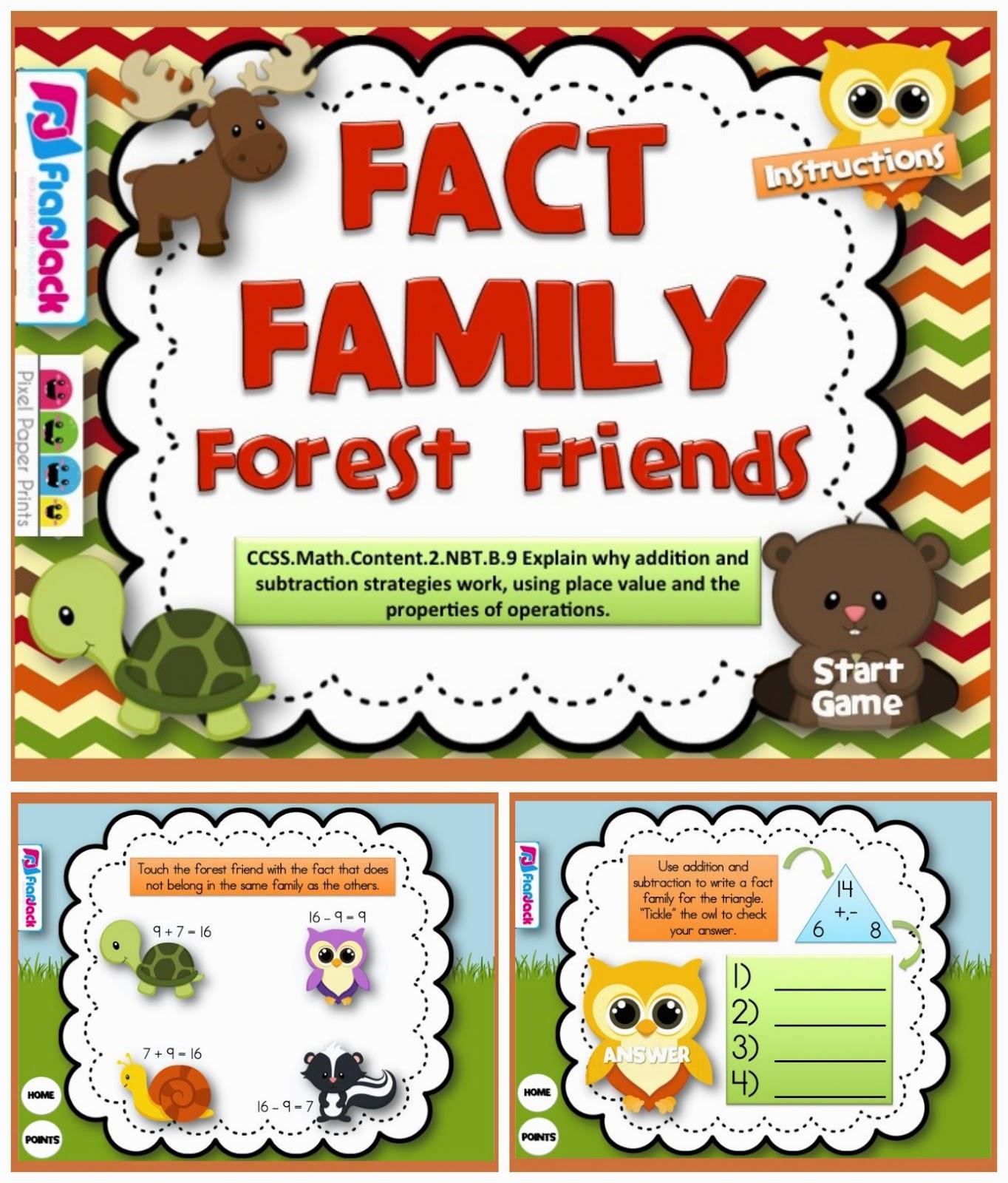 http://www.teacherspayteachers.com/Product/Fact-Family-Forest-Friends-Smart-Board-Game-CCSS2NBTB9-1232742
