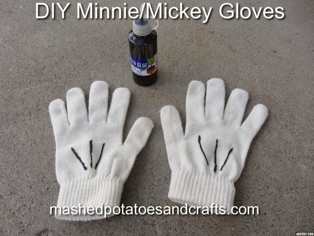 Mashed potatoes and crafts diy minnie mouse costume for Fast drying paint for crafts