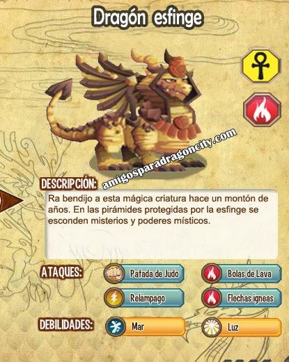 imagen del dragon esfinge y sus caracteristicas