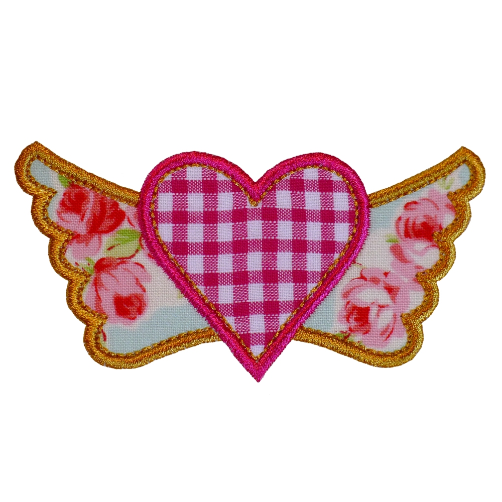 Big dreams embroidery winged heart machine