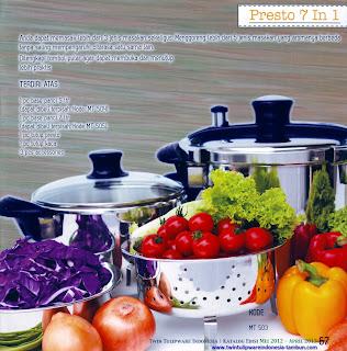 Panci Presto Tulipware 7 In 1, 5 In 1