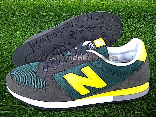 sepatu nb 430 green grey original