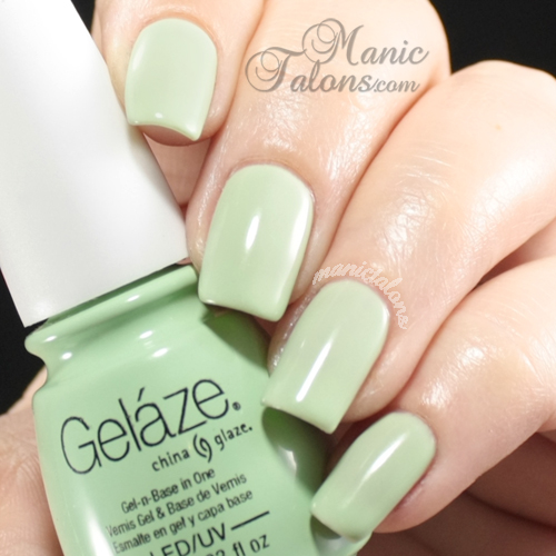 China Glaze Gelaze Gel Polish Re-Fresh Mint Swatch