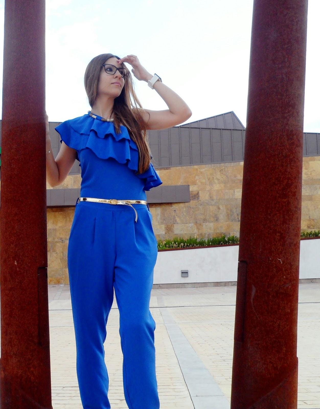 BLUE LONG JUMPSUIT