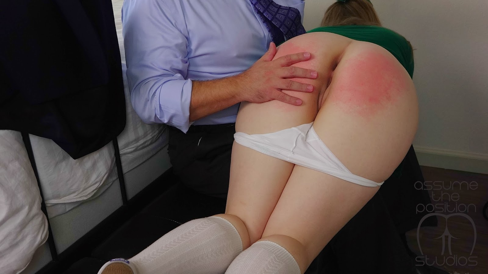 More Spanked my bare ass