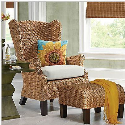 Marvelous Santino Wing Chair And Ottoman