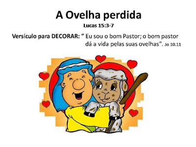 A ovelha perdida -amiguinhos de Jesus