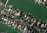 Al Capone's house in Miami Beach Florida - arial view
