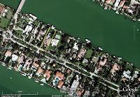 Al Capone's house in Miami Beach Florida - arial view