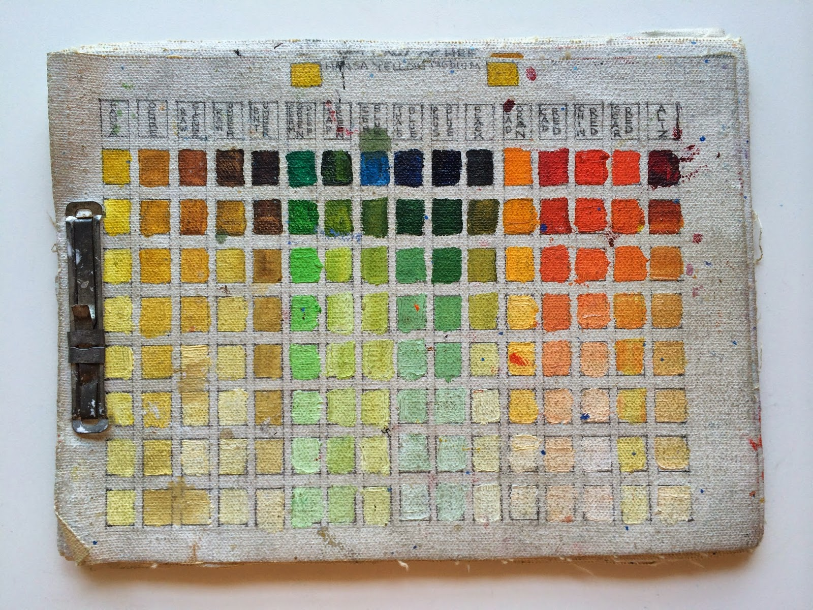 The creative world of kathleen color mixing chart im so glad i used the quality canvas and not canvas pads as this has seen its finer day true story about this color chart is i thought i lost it at nvjuhfo Choice Image